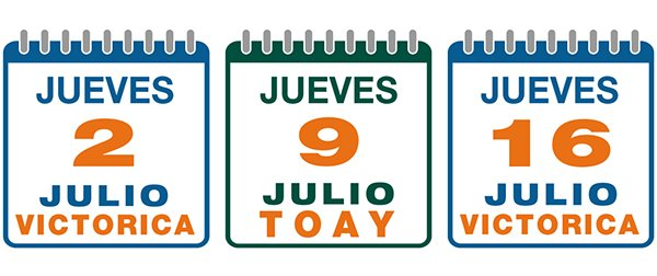 Jueves 2 de Julio de 2020, en Victorica, La Pampa -- Jueves 9 de Julio de 2020, en Toay, La Pampa -- Jueves 16 de Julio de 2020, en Victorica, La Pampa